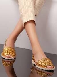 Sandalet - Gold - Ayakkabı Havuzu
