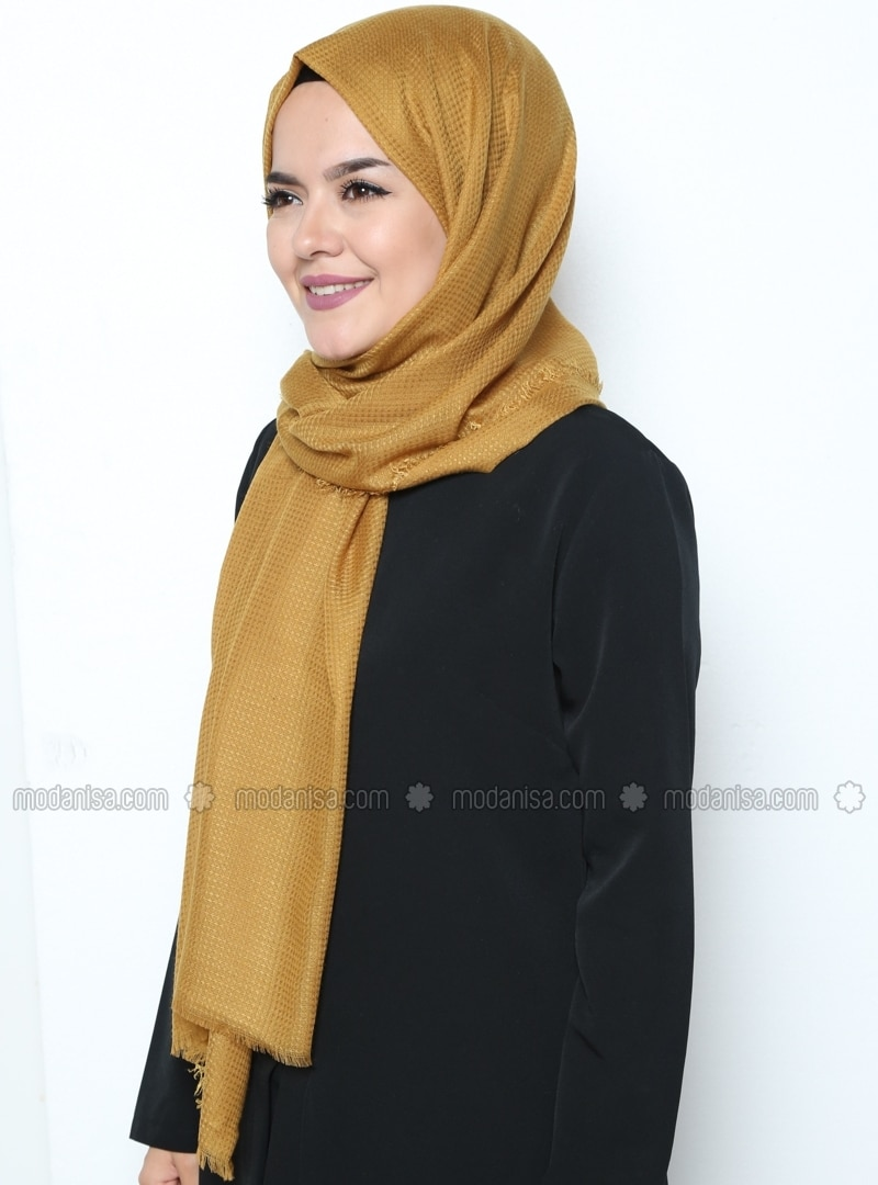 Plain - Yellow - Shawl