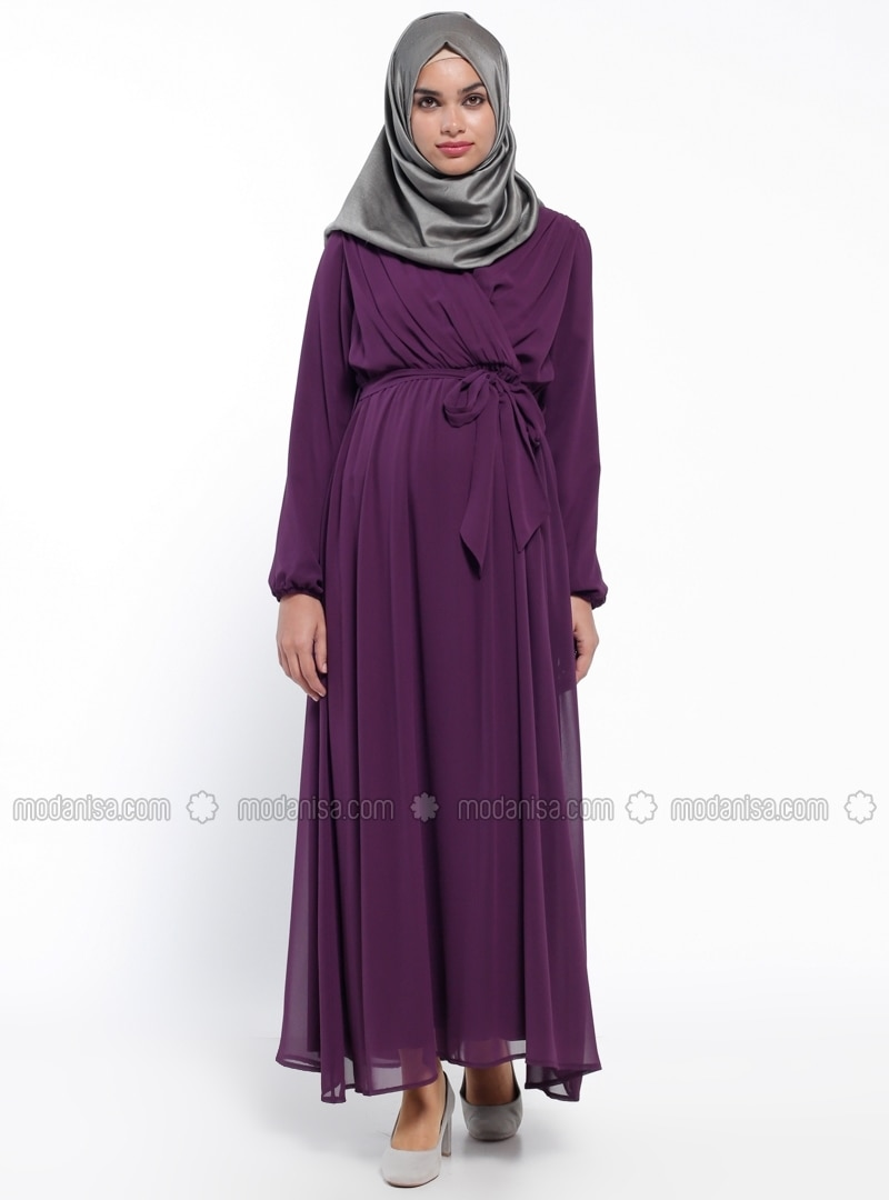 Neck collar purple fully lined maternity dress havva ana v neck collar purple fully lined maternity dress havva ana ombrellifo Choice Image