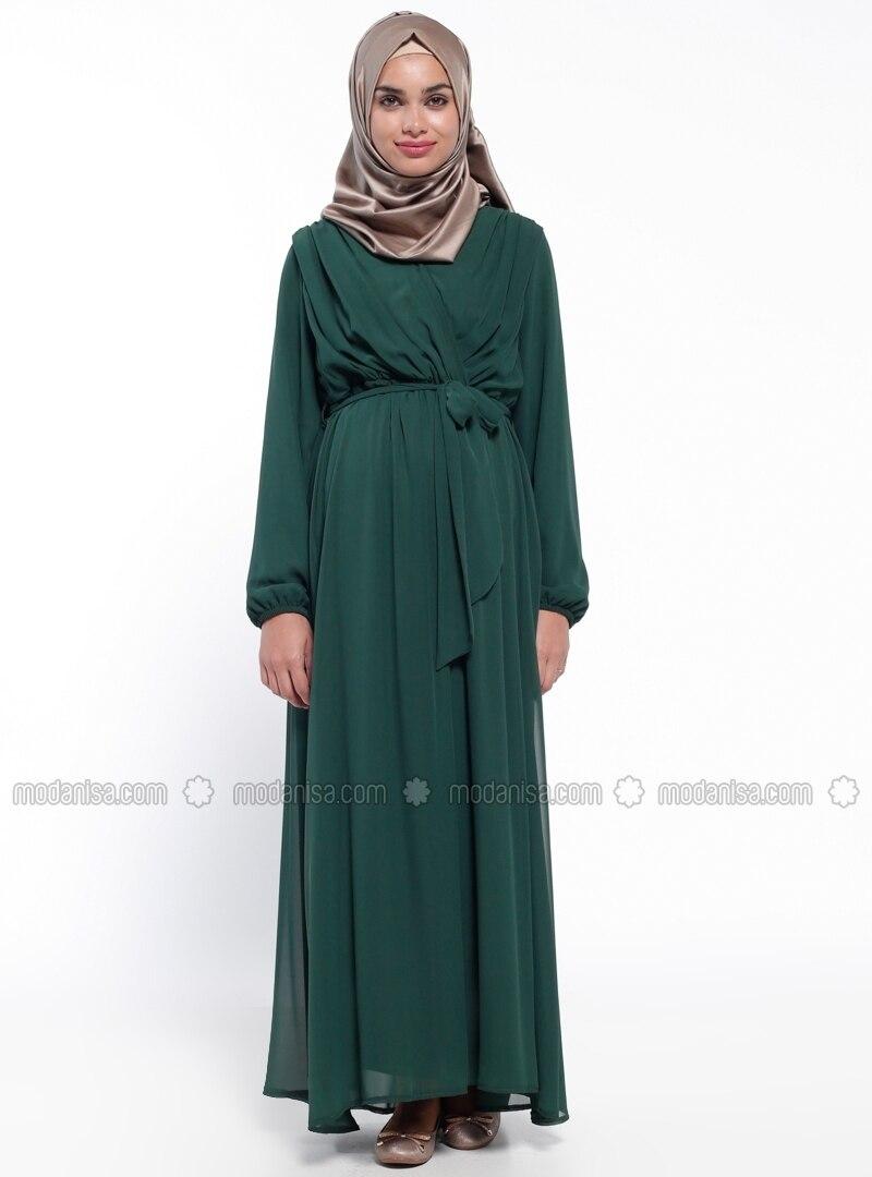 Neck collar green fully lined maternity dress havva ana v neck collar green fully lined maternity dress havva ana ombrellifo Choice Image