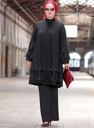 Damla Krep Ceket - Siyah Nesrin Emniyetli