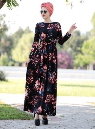 Gonca Elbise - Siyah Somon