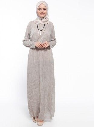 Kolyeli Elbise - Vizon