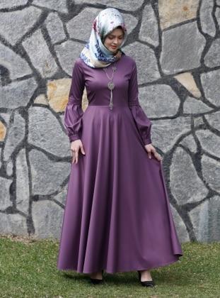 Nil Kloş Elbise - Mor