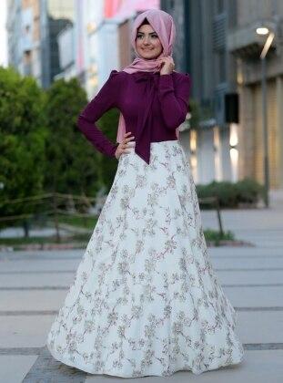 Al-Marah Bahar Elbise - Fuşya