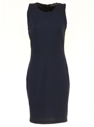 Navy Blue - Multi - Crew neck - Muslim Evening Dress - Mileny 306322