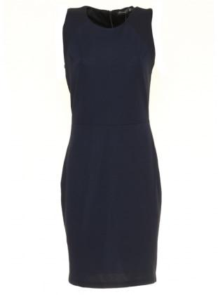 Kolsuz Elbise - Lacivert Mileny