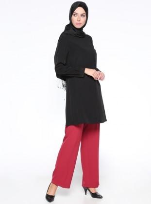 Klasik Pantolon - Kırmızı