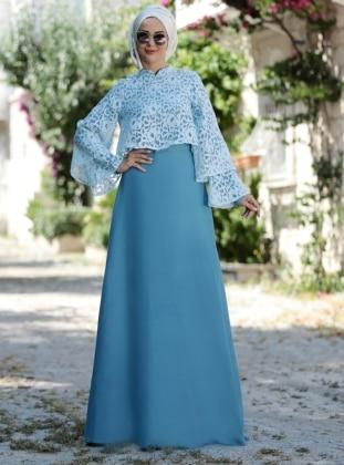 Gülendam Elbise - Mavi
