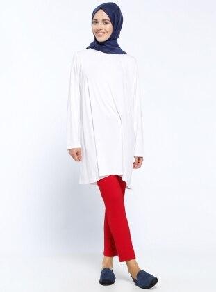 Kemerli Pantolon - Kırmızı