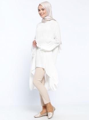 Appleline Kemerli Pantolon - Taş