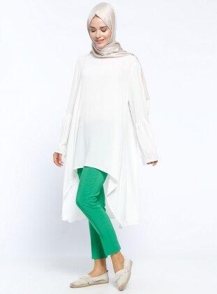 Kemerli Pantolon - Yeşil