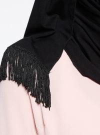 Combed Cotton - Cotton - Plain - Black - Instant Scarf