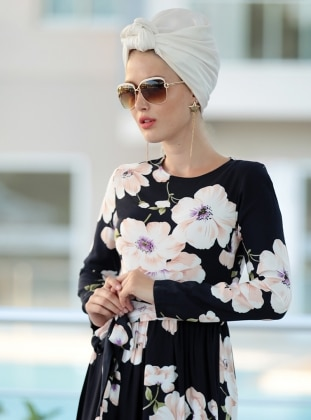 Burcu Elbise - Lacivert