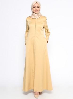 Fermuarlı Ferace - Sarı Pardesü Dünyası