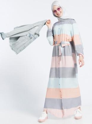 Stripe Plus Size Dresses Shop Womens Plus Size Dresses Modanisa