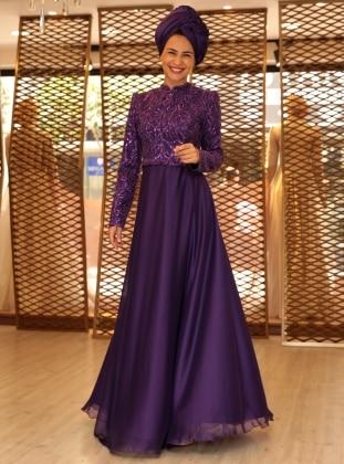 Lisa Abiye Elbise - Mor