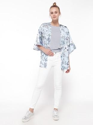 Dar Paça Pantolon - Beyaz Koton