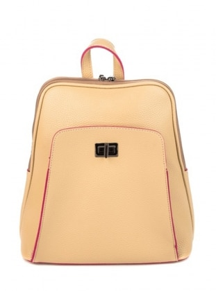 Beige - Backpack - Backpacks