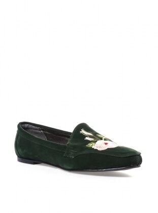 ayakkabı - yeşil - pembepotin