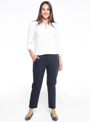 Klasik Pantolon - Lacivert GRAND DE POMMES