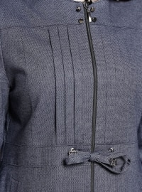 Navy Blue - Fully Lined - Crew neck - Topcoat