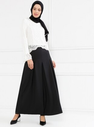 Pantolon Etek - Siyah Refka