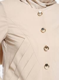 Crew neck - Unlined - Beige - Topcoat