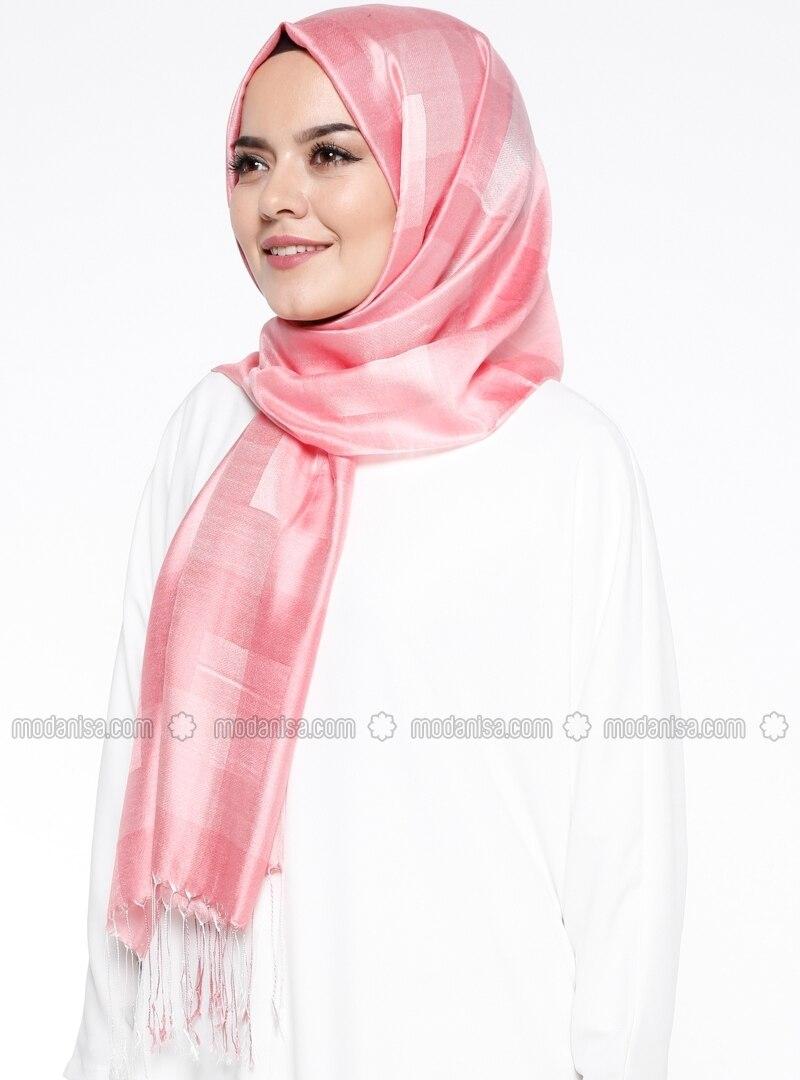 Plaid - Multi - Pink - Shawl