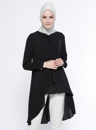 Arkası Uzun Tunik - Siyah Belle Belemir