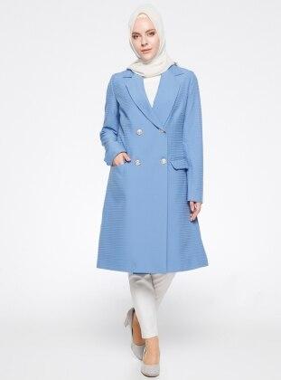 Şal Yaka Ceket - Mavi Modesty