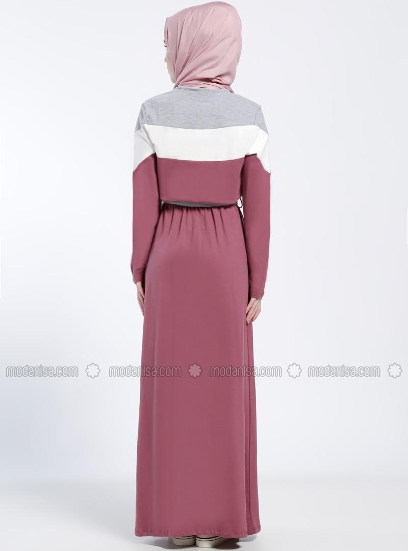 Kleid grau rosa