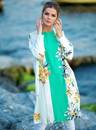 Açelya Tunik - Mint Yeşili Zehrace