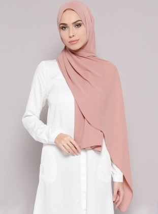 Crepe - Plain - Dusty Rose - Shawl