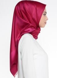Red - Pink - Plain - %100 Silk - Scarf