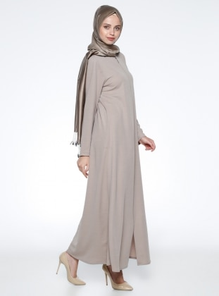 Crew neck - Unlined - Minc - Abaya