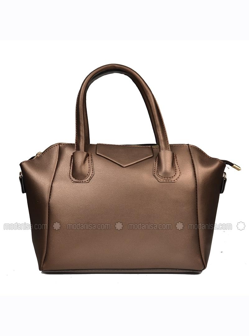 b10877c16673 Brown - Gold - Satchel - Crossbody - Shoulder Bags. Fotoğrafı büyütmek için  tıklayın