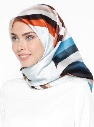 %100 Silk – Printed – Multi – Scarf – Levi`Dor