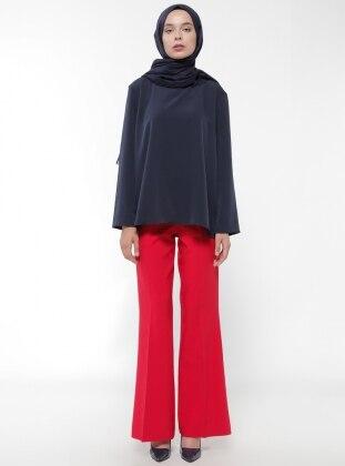 Bol Paça Pantolon - Kırmızı Bwest