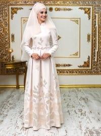 Ece Abiye Elbise - Pudra - An-Nahar