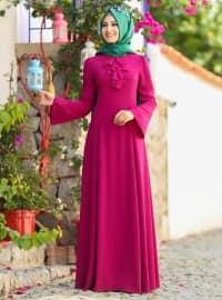 Ezgi Elbise - Fuşya - An-Nahar