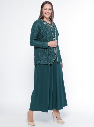 Ceket&Elbise İkili Abiye Takım - Zumrut Metex