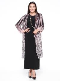 Hırka&Elbise İkili Takım - Pudra Siyah - he&de
