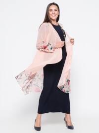 Hırka&Elbise İkili Takım - Pudra - he&de