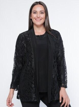 Ceket&Bluz İkili Takım - Siyah Metex