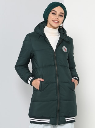 Fully Lined - Green - Puffer Jackets