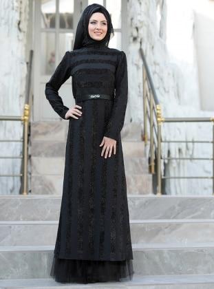 Gülfem Abiye Elbise - Siyah Sema Şimşek