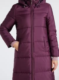 Fully Lined - Purple - Puffer Jackets