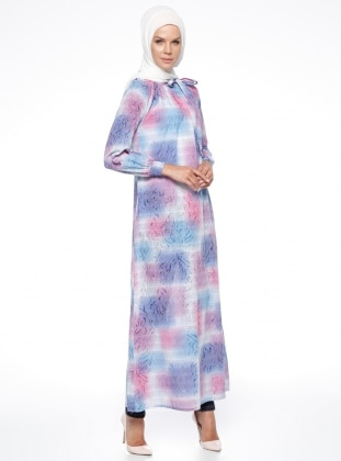 Gipeli Elbise - Pembe ModaNaz