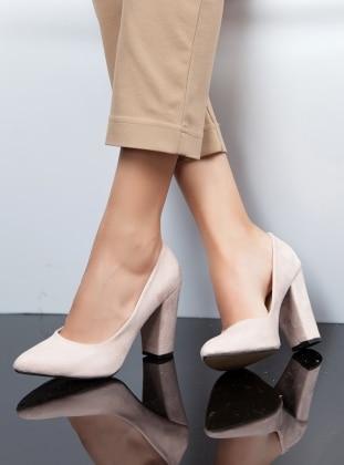 topuklu ayakkabı - pudra - ayakkabı havuzu
